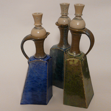 Three Graces, crystalline glaze